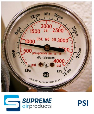 Pounds per sqaure inch - Supreme Air Products